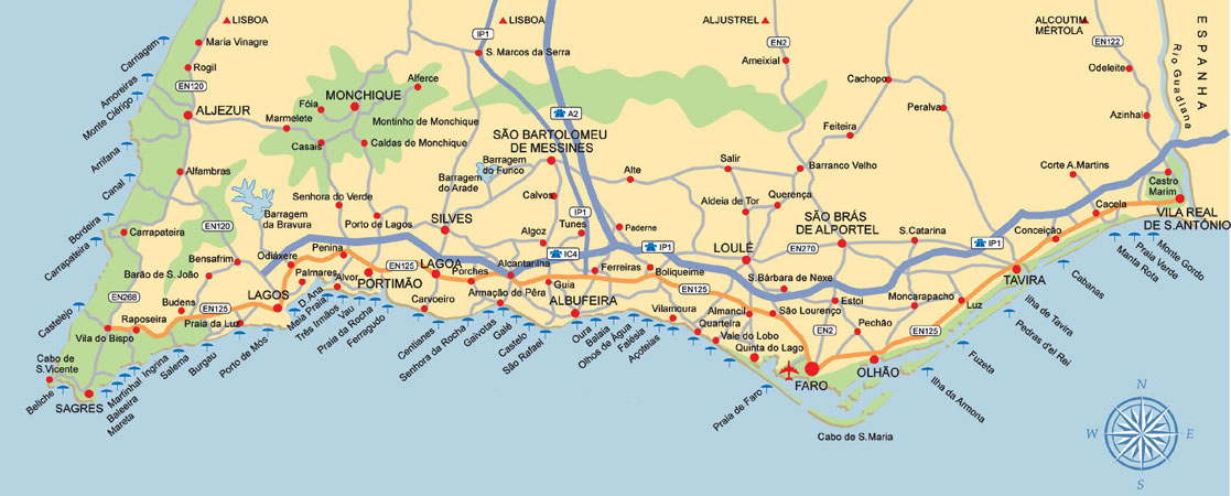 ... a Map of Algarve Beaches